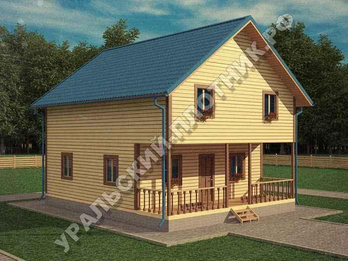 Дом из бруса Дмитрий 10х8