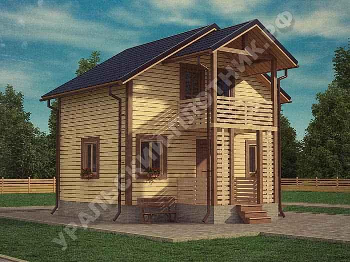 Дом из бруса Вадим 5х7