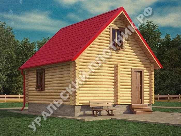 Дом из бревна Лев 6х6 м