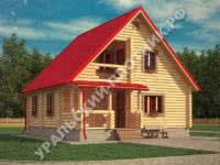 Дом из бревна Михаил 8х8,5 м