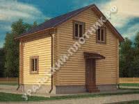 Дом из бревна Вадим 5х7 м