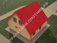 Дом из бревна Михаил 8х8,5