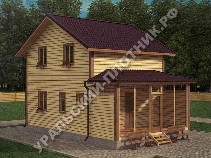 Дом из бруса Егор 6х9 м