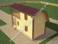 Дом из бруса Геннадий 4х9