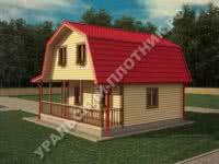 Дом из бруса Фрол 7,5х7,5 м