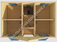 Дом из бруса Прохор 9х7 м