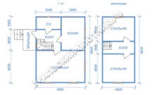 Дом из бруса Святослав 8х6