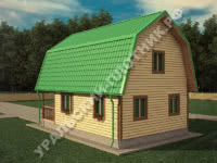 Дом из бруса Ярослав 6х9 м