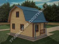 Дом из бруса Юрий 7,5х6 м