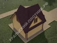 Дом из бруса Алексей 8х6 м