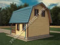 Дом из бруса Андрей 6х6 м