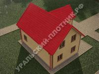 Дом из бруса Борис 8х10 м
