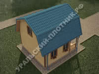 Дом Денис из бруса 6х6 м