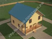 Дом из бруса Антон 10х9,5 м
