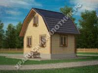 Дом из бруса Леонид 6х4 м