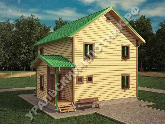 Дом из бруса Федор 9х8,5 м