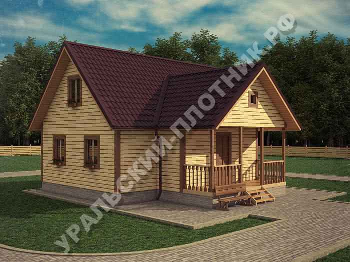 Дом из бруса Георгий 9х9 м