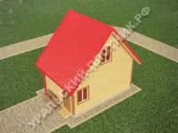 Дом из бруса Григорий 4х6 м