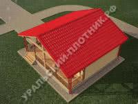 Дом из бруса Илья 8х8 м