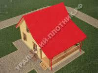 Дом из бруса Иван 6х8 м