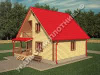 Дом из бруса Михаил 8х8,5 м