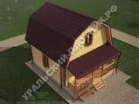 Дом Никита из бруса 6х7,5 м