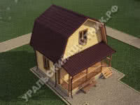 Дом из бруса Олег 6х6 м
