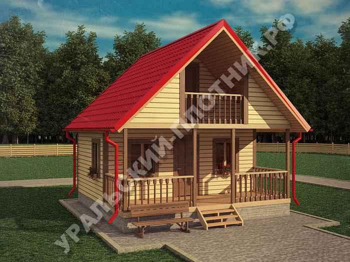 Дом из бруса Павел 6х6 м