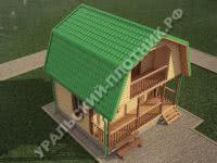 Дом из бруса Петр 6х6 м
