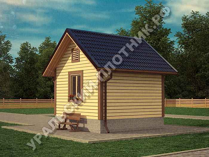 Дом из бруса Валентин 4х4