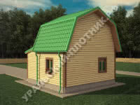 Дом Роман из бруса 6х6 м