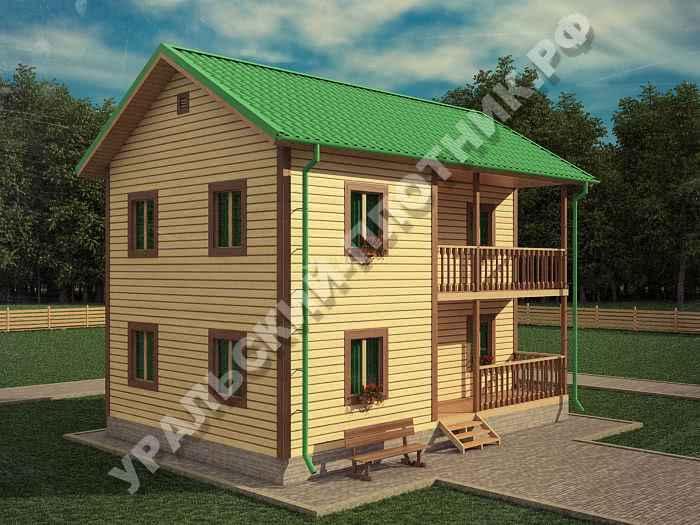 Дом из бруса Сергей 9х6 м