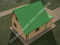 Дом из бруса Василий 6х8 м