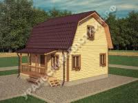 Дом из бруса Виктор 6х6 м
