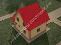 Дом из бруса Владимир 8,5х7