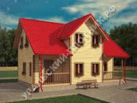 Дом из бруса Яромир 10х7,5 м