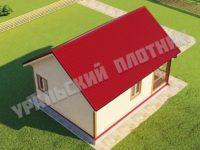 Дом из бруса Савелий 6х8 м