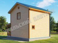 Дом из бруса Кузьма 6х6 м