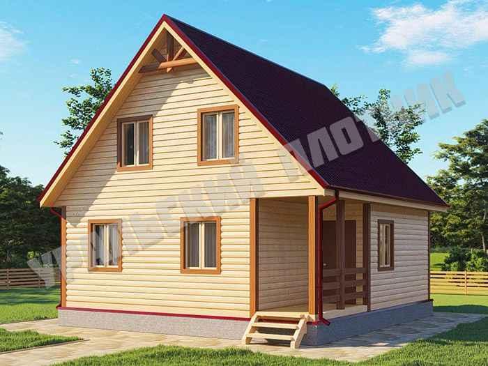 Дом из бруса Степан 8х7,5 м