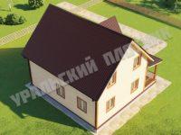 Дом из бруса Арсений 9х9 м
