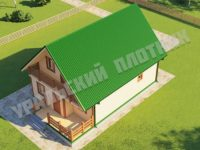 Дом из бруса Багдан 7х11,5 м