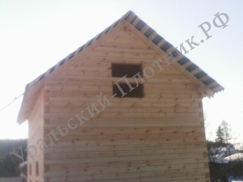 Строительство дома в деревне Гагарка