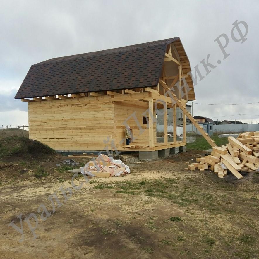Строительство дома в посёлке Шабровский