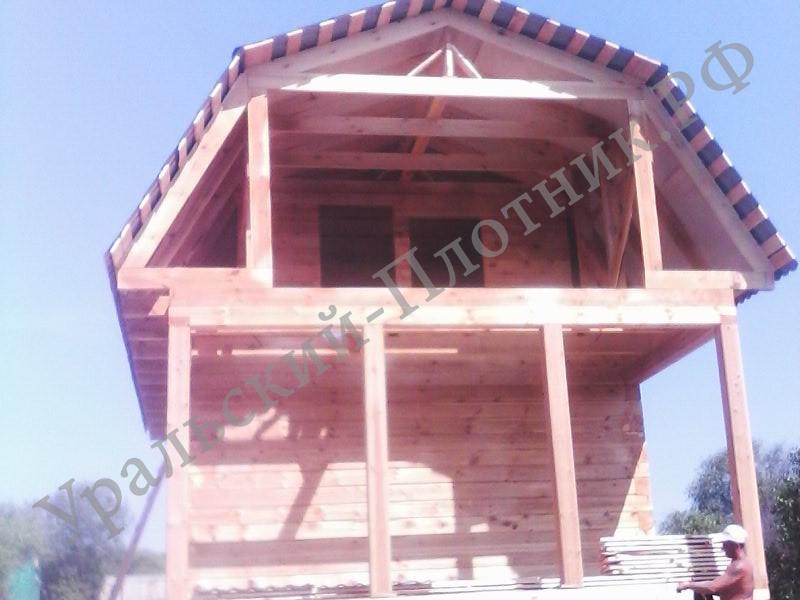 Дом из бруса в селе Арамашево