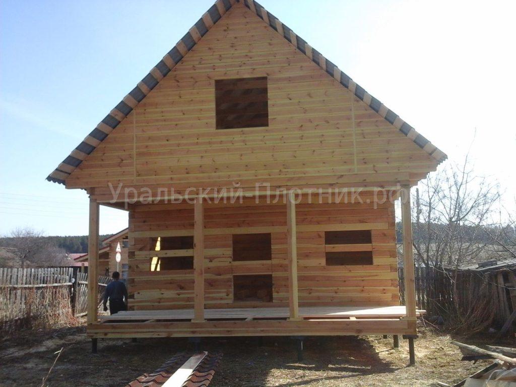 Строительство дома из бруса в деревне Ключи