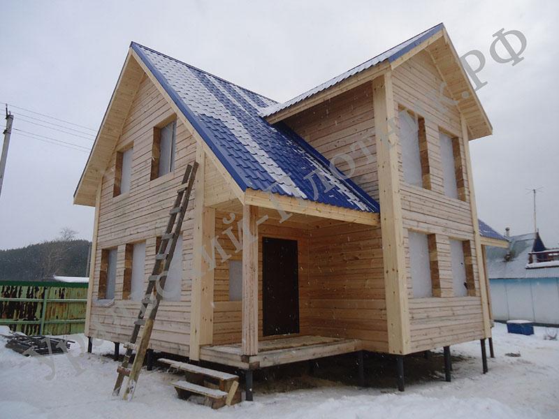 Строительство дома из бруса в селе Колюткино