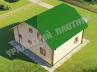 Дом из бруса Демьян 8х9,5 м