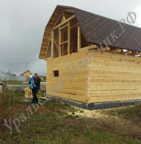 Брусовой дом в посёлке Шабровский